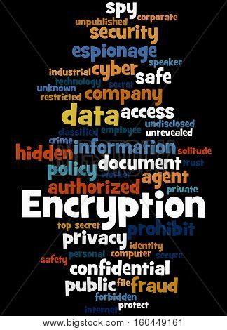 Encryption, Word Cloud Concept 8