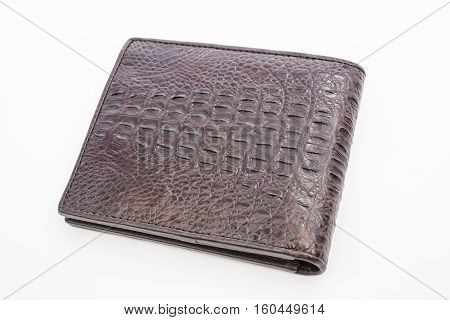 Crocodile skin brown color leather texture background,genuine crocodile leather pattern