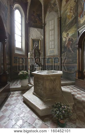 Interior Of The Cathedral In Gubbio ,italy
