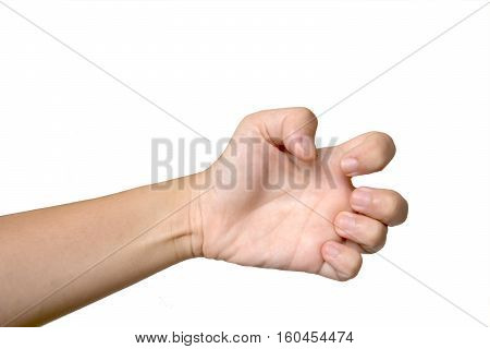 frizzle fingers style with white background,five fingers