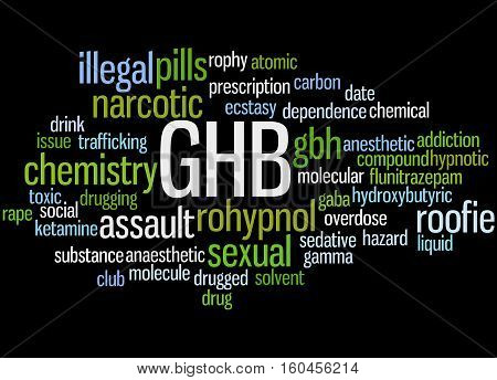 Ghb - Gamma-hydroxybutyrate, Word Cloud Concept 7