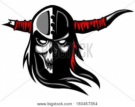 Warrior Skull Demon Tattoo Death Symbol Motorbike Spirit