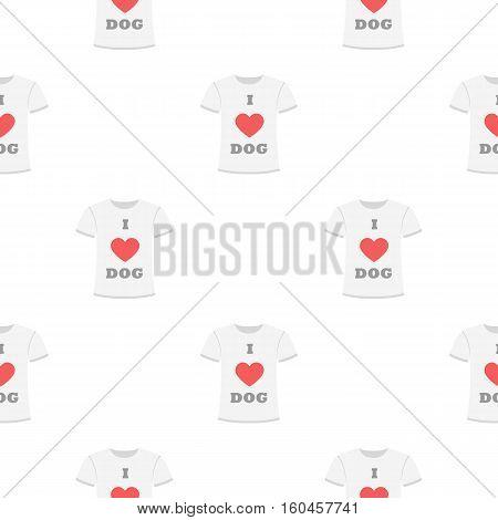 Shirt I love dogs vector illustration icon in cartoon design