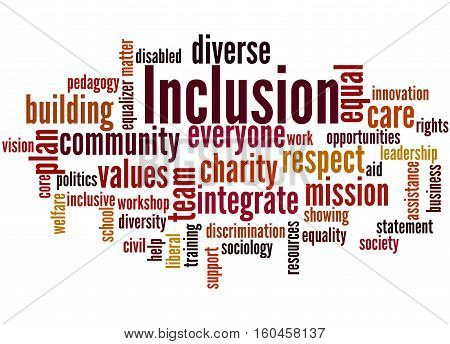 Inclusion, Word Cloud Concept