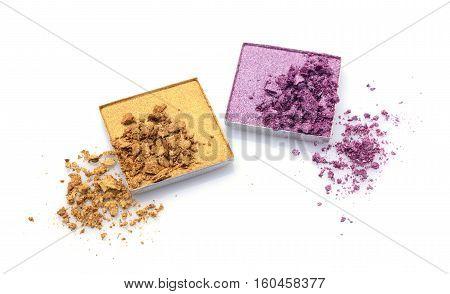 Crushed Golden And Violet Eyeshadows