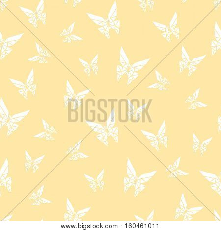 Stock vector seamless pattern paper origami butterfly