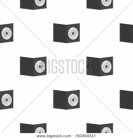 DVD with movie icon in cartoon style isolated on white background. Films and cinema symbol vector illustration.