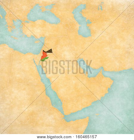 Map Of Middle East - Jordan