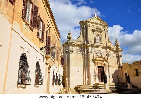 Cathedral of Assumption in the Cittadella high above Victoria, Gozo, Malta