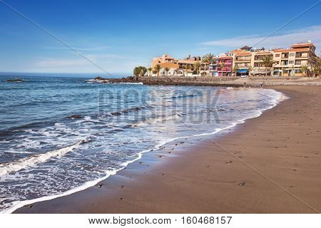 Scenic view of Valle Gran Rey beach in La Gomera Canary islands Spain.