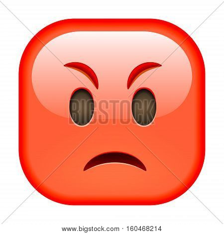 Angry Red Emoticon