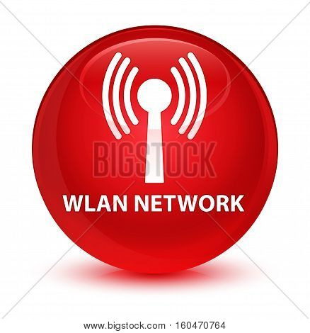Wlan Network Glassy Red Round Button