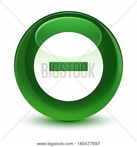 Cancel Icon Glassy Soft Green Round Button