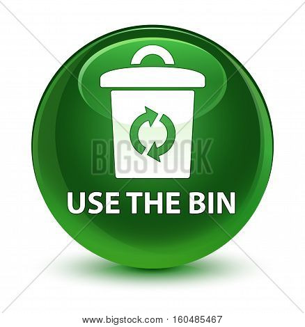 Use The Bin Glassy Soft Green Round Button