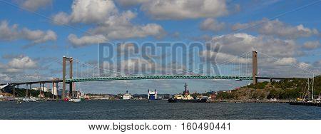 Alvsborg Bridge in Gothenburg Sweden on a sunny day