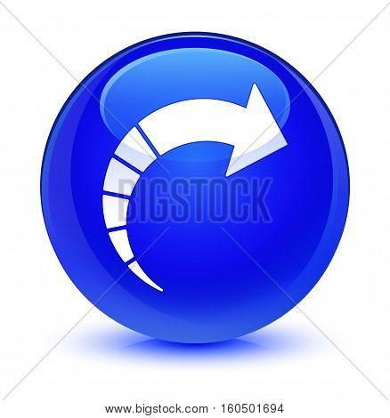 Next Arrow Icon Glassy Blue Round Button