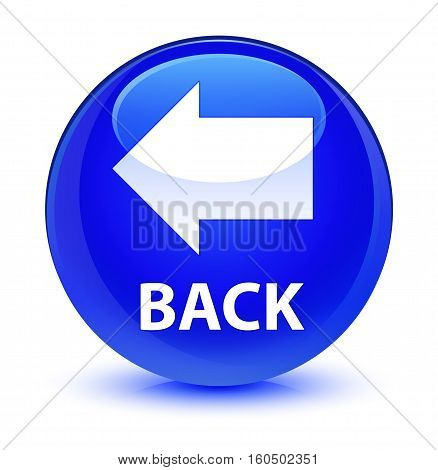 Back Glassy Blue Round Button