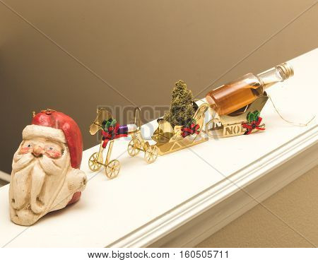 Christmas party in a tiny ornament version