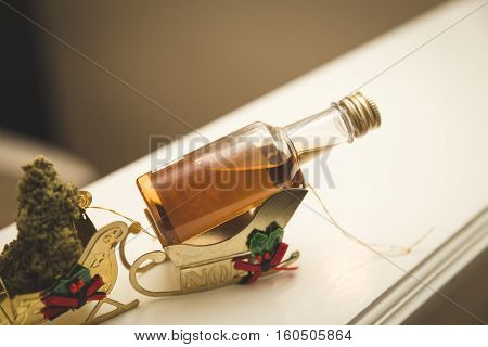 Party themed holiday with tiny ornaments and controlled substances