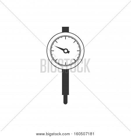 Gauge icon. Power measurement speedmeter and instrument theme. Isolated design. Vector illustration