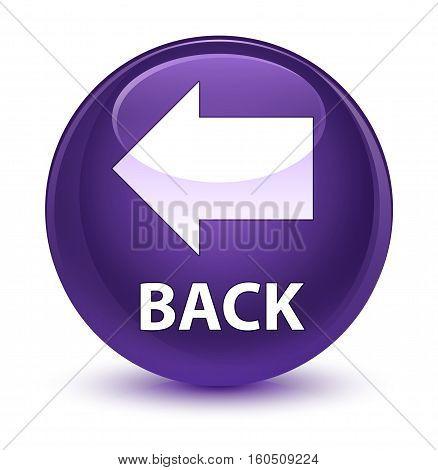 Back Glassy Purple Round Button