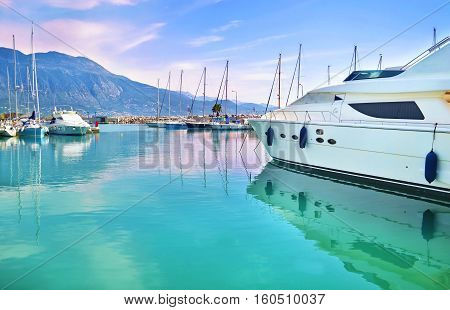 boats at Kalamata port Messinia Peloponnese Greece