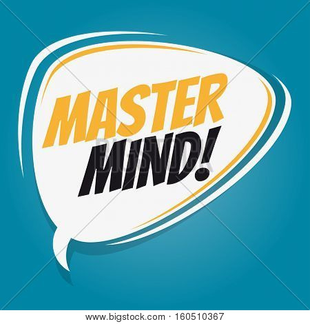 mastermind retro speech balloon