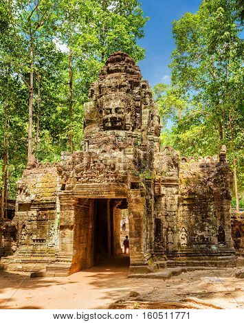 Gateway To Ancient Ta Som Temple In Angkor, Siem Reap, Cambodia