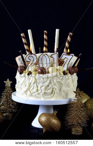 Happy New Year White Chocolate Cake