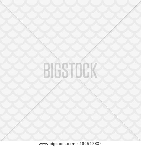 Fish scale. White Neutral Seamless Pattern for Modern Design in Flat Style. Tileable Geometric Vector Background.
