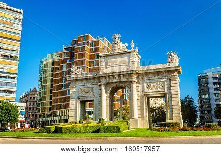 Puerta del Mar, a gate in Valencia, Spain in Valencia - Spain