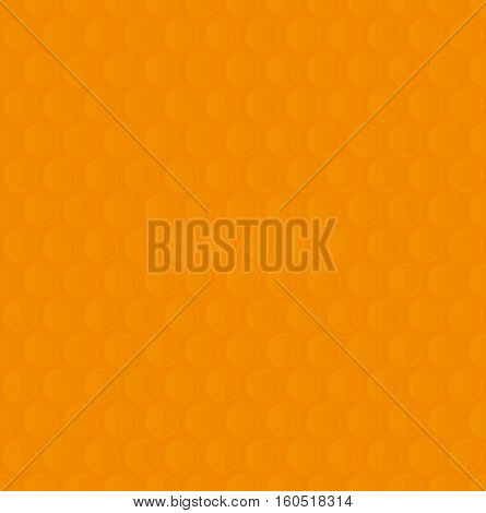 Bubble Wrap. Orange Neutral Seamless Pattern for Modern Design in Flat Style. Tileable Geometric Vector Background.