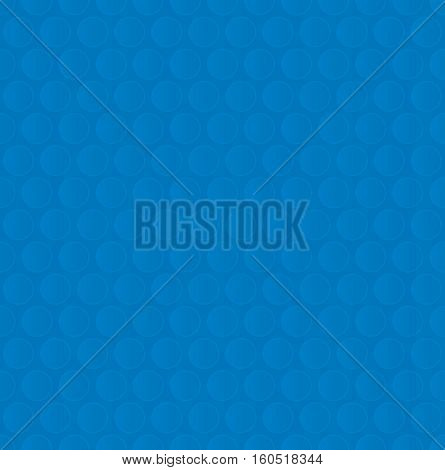 Bubble Wrap. Blue Neutral Seamless Pattern for Modern Design in Flat Style. Tileable Geometric Vector Background.