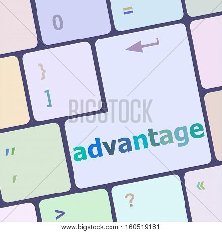 Close Up View On Conceptual Keyboard - Advantage