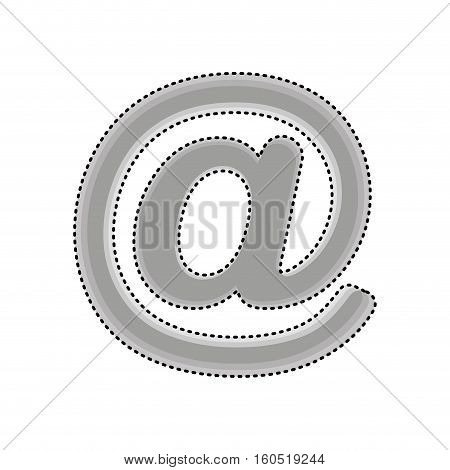 arroba social media icon vector illustration design
