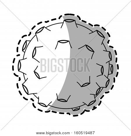 Asteroid icon. Space science orbiting and exploration theme. Isolated design. Vector illustration