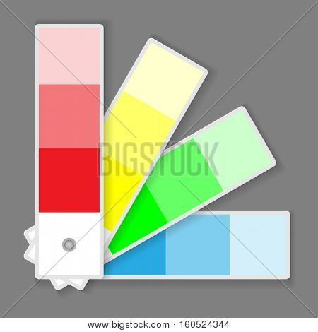 Icon Color Palette Isolated on grey background. Illustration