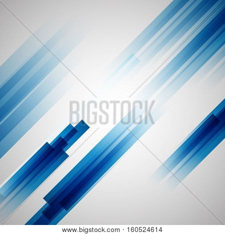 Abstract blue background with straight lines, stock vector