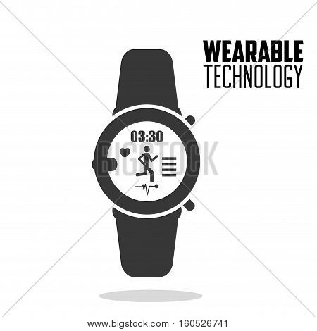 smart watch fitness health wearable technology vector illustration eps 10