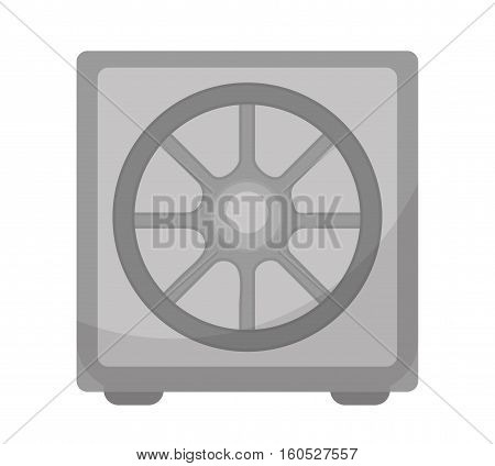 Safe icon, flat design. Deposit Box isolated on white background. Vector illustration, clip art