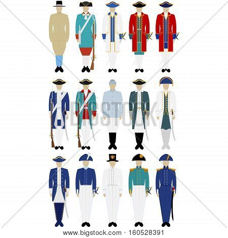 Military Russian sailors in uniform. The illustration on a white background.