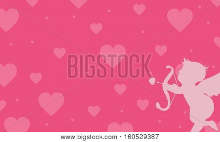 Vector love with cupid backgrounds collection stock