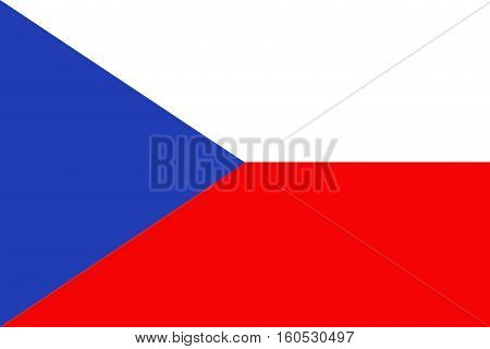 Czech republic flag ,3D Czech republic national flag illustration symbol.