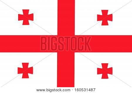 Georgia flag ,3D Georgia national flag illustration symbol.