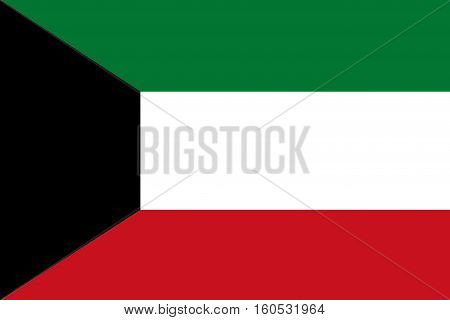 Kuwait flag ,3D Kuwait national flag illustration symbol.