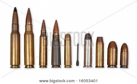 Standard military and police ammunition types.