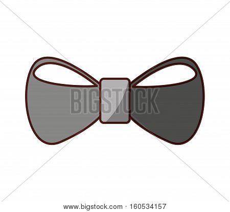 bown tie hipster style icon vector illustration design