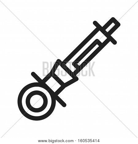 Syringe, dentist, anesthetic icon vector image. Can also be used for dentist equipment. Suitable for mobile apps, web apps and print media.