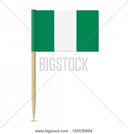 Nigeria flag. Flag toothpick 10eps