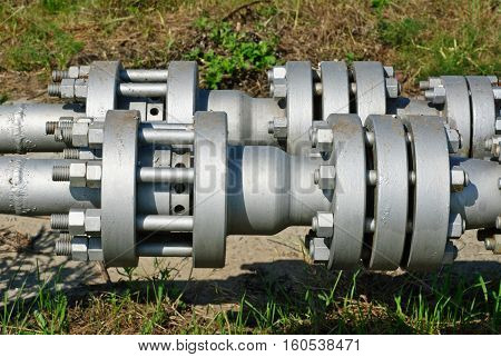 Part wellhead in the oil and gas industry.